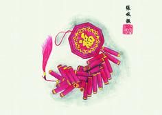 #ChineseArt #FireCracker #Painting Chinese Painting, Chinese Art, Firecracker