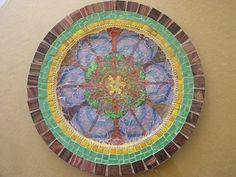 Mosaic+Mandala+Round+Plate+Tree+of+Life+by+PalsCreations+on+Etsy,+$85.00