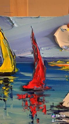 Learn to paint sailboats Paint with a palette knifeYou can find Palette knife painting and more on our website.Learn to paint sailboats Paint with a palette knife Abstract Painting Easy, Sailboat Painting, Abstract Canvas, Painting Tips, Painting Art, Learn Painting, Canvas Art, Painting With Oils, Oil Painting Easy