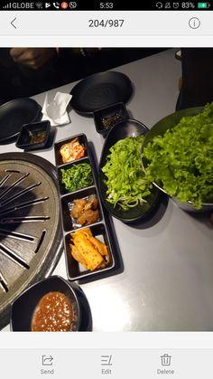 Korean Grill- Seoul Train QC Korean Grill, Grill Pan, Palak Paneer, Seoul, Grilling, Restaurant, Train, Meals, Ethnic Recipes