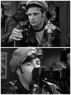 """Marlon Brando in """"The Wild One"""" #Brando"""