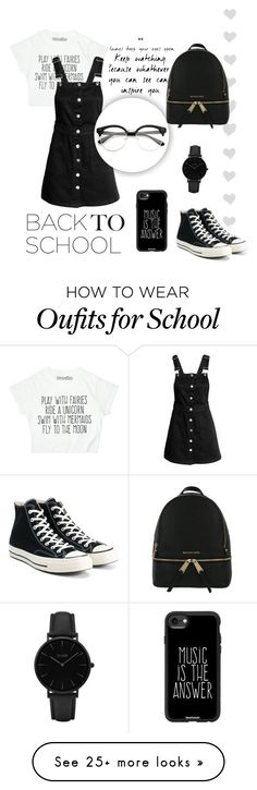 """""""Back to school!"""" by chloe2277 on Polyvore featuring MICHAEL Michael Kors, Converse, CLUSE and Casetify"""