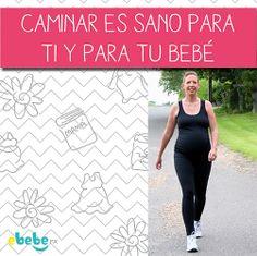 Para tener un mejor parto y para que tanto tu como tu bebé estén sanos, es recomendable caminar durante el embarazo. #salud #bebé #ejercicio