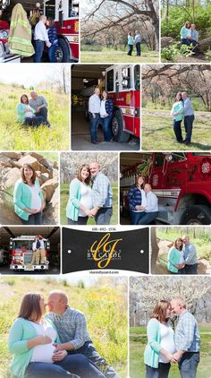 Maternity photo session at local fire department. With dad-to-be as Captain, how could we not take photos with the big red truck? Fire Department, Pregnancy Photos, Photo Sessions, Maternity, Dads, Couple Photos, Couples, Photography, Pregnancy Pics