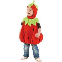 Déguisement fraise bébé et enfant, déguisement fraise bébé fille et garçon, déguisement fraise fille et garçon, fraise rouge avec feuilles