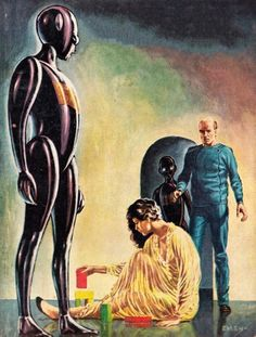 ED EMSHWILLER - art for The Humanoids by Jack Williamson - 1954 Galaxy Publishing