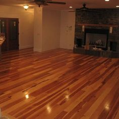 awesome quarry tile floor design Hickory Hardwood Flooring Design Ideas Love the window a. Vinyl Wood Flooring, Modern Flooring, Wood Tile Floors, Flooring Ideas, Wood Planks, Tile Looks Like Wood, Wooden Glass Door, Glass Doors, Floor Design