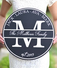 Love this Personalized Family Sign on #zulily! #zulilyfinds