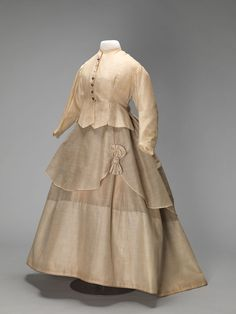 Three-piece dress, Wolters & Co., ca. 1870-75.
