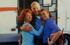 Mark Harmon with Cote de Pablo and her mom.