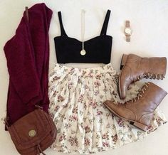 I think some leggings would look good with this outfit