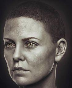 Charlize Theron as Furiosa 1/6 th Sculpt - Modern Life, Hossein Diba on ArtStation at https://www.artstation.com/artwork/WbJA3?utm_campaign=notify&utm_medium=email&utm_source=notifications_mailer