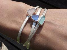 Armreifen Seaglass Armbänder von seaglassjewels auf Etsy