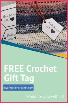 Love gifting handmade? These printable gift tags are perfect for those handmade gifts! Download this gift tag freebie. Instant download & printable gift tag for crochet gifts. Crochet Gifts, Diy Crochet, Community Boards, Gift Tags Printable, Homemade Crafts, Love Gifts, Crochet Patterns, Diy Projects, How To Apply
