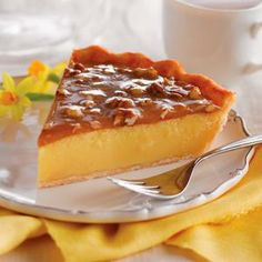 Praline Custard Pie - After the feast, after round two, before the coma: Would you like a slice of pie?