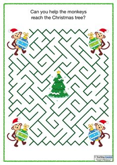The Christmas Pack includes a large set of classroom activities and teaching resources to use throughout the festive season. Mazes For Kids, Craft Activities For Kids, Kindergarten Activities, Classroom Activities, Morning Activities, Christmas Maze, Kids Christmas, Handmade Christmas Crafts, Xmas Crafts