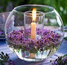 Creative and great floral arrangement, bouquet, candle decoration, wedding centerpiece, … – Flowers Desing Ideas Deco Floral, Floating Candles, Diy Candles, Floating Flowers, Floating Flower Centerpieces, Ideas Candles, Centerpiece Flowers, Citronella Candles, Mason Jar Crafts