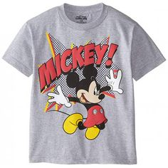 Disney Little Boys Mickey Mouse Jumping Short Sleeve TShirt Heather Grey 56 >>> Check out this great product. Stylish Toddler Girl, Toddler Boy Fashion, Toddler Boys, Kids Fashion, Infant Boys, Toddler Stuff, Disney Fashion, Disney Shirts, Disney Outfits