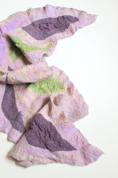 Nuno Felted Silk Scarf  Lavender Field Rhapsody by realfaery, $83.00