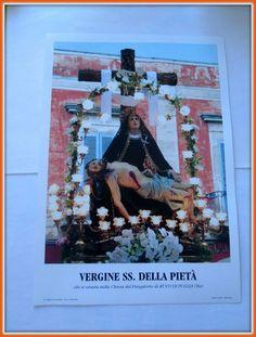 Santino stampa fotografica Vergine SS. della Pietà 29x37 in cartoncino gafo