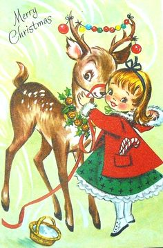 Rust Craft Christmas Greeting Card Deer Die Cut Marjorie Cooper