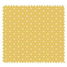 Tissu Fuji Imprimé Jaune - Tissus des Ursules