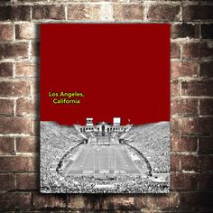 usc trojans college football sports poster ncaa print by PrintWell, $14.99