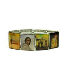 Dali Bracelet by Carolyn Forsman    $15fab/ $24 retail price    Crazy for Dali? Then this Dali Bracelet is surreally up your alley. You'll never forget to put on The Persistence of Memory. Or perhaps you've seen The Ghost. Each of the eight panels is a miniature of a painting by one of the 20th Century's greatest Surrealists.