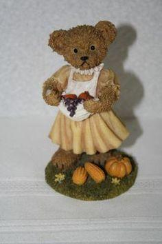 "2002 Home Interiors Fall Harvest Bear 4 1/4"" x 2.5""D figurine #11768 $8.50"