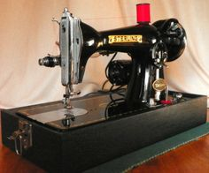 This Japanese Sterling is a powerful straight-stitch machine built with style and quality.  It's just come off the restoration bench here at Stagecoach Road Vintage Sewing Machine Restoration and it's going home with someone.  Maybe that someone should be you.  See it at our website, http://StagecoachRoadSewing.Com.