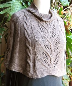 Milkweed cables in a capelet