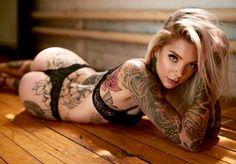 …Inked Butt! Hot model…Miss Madison Skye ✨Belles Femmes Tatouee's✨