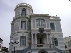 Island, Mansions, Architecture, Visit Greece, House Styles, Arquitetura, Manor Houses, Villas, Islands