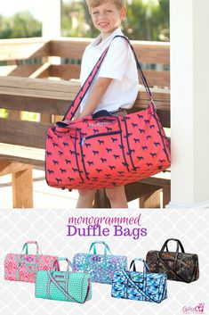 ca3088fa6b Monogrammed Duffle Bags for Kids Kids Gym