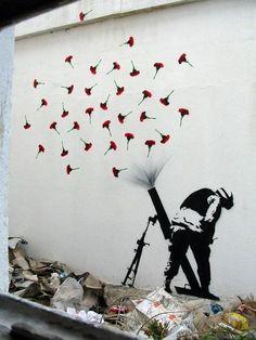 Love , peace , humanity , war