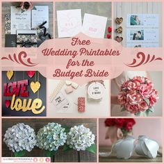 Brand spankin' new & improved version--- 93 Free Wedding Printables for the Budget Bride