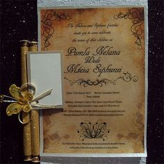 Ref Pumla Scroll Classic ( We can do any colour) www.weddingcards.co.za Wedding Cards Handmade, Traditional Wedding, Rsvp, Wedding Invitations, Colour, Classic, Prints, Color, Derby