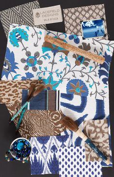 Lacefield Designs Marina #textile #moodboard www.lacefielddesigns.com #fabric #blue