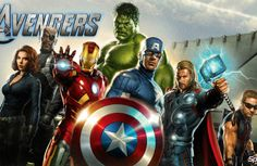 Avengers room is cool, for your man cave or other movie buff home decor