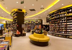 Bookstore Interior Design with Yellow Color at São Paulo 5