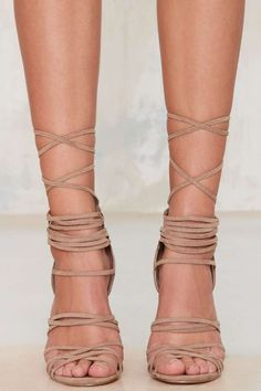 Nasty Gal Wrap Me Up Suede Heel - Heels | Shoes | Back In Stock | Shoes