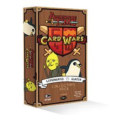 In this Collector's Pack, The Earl of Lemongrab and his sour disposition take on the cool as a cucumber penguin, Gunter! The box contains everything two players need to have a head-to-head Card Wars b