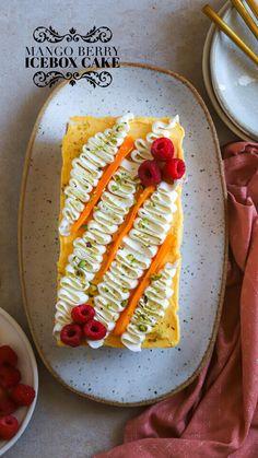 Raspberry Desserts, Raw Desserts, Frozen Desserts, Summer Desserts, No Bake Desserts, Icebox Cake, Brunch Party, Yummy Eats, Vegetarian Recipes
