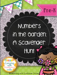 FREE A Garden Scavenger Hunt - Learning with Sunflower Smiles