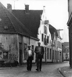 Eelke de Jong met Toon Tieland 1984. Bloemendalsestraat, Amersfoort
