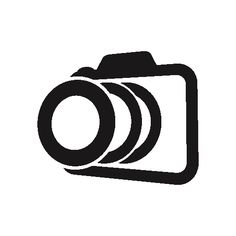 Photo camera outline in perspective variant free icon