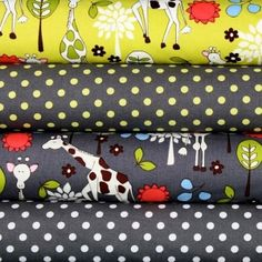 Giraffe Garden Dumb Dot Pluto Fabric by  Michael Miller