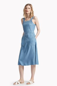 washed wendy pinafore dress