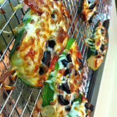 My personal (Tiffany;) attempt at the gluten free zucchini crust pizza!