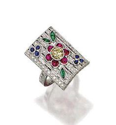 COLOUR GEMS AND DIAMOND RING via Natalie of Jewels Du Jour